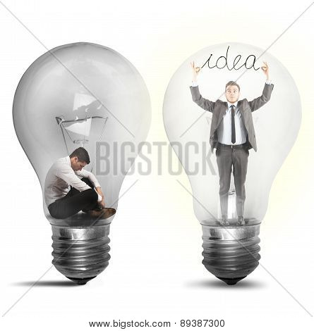 Businessman suddenly an idea