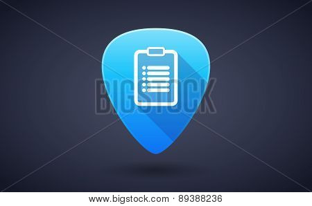 Blue Guitar Pick Icon With A Report