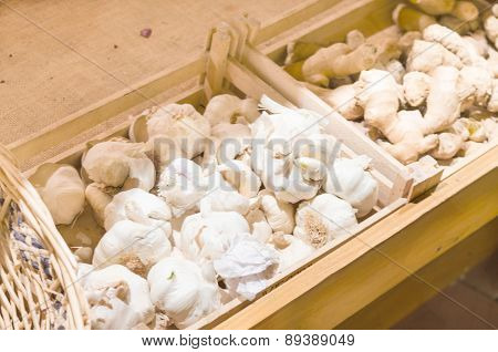Garlic Onions And Ginger Root