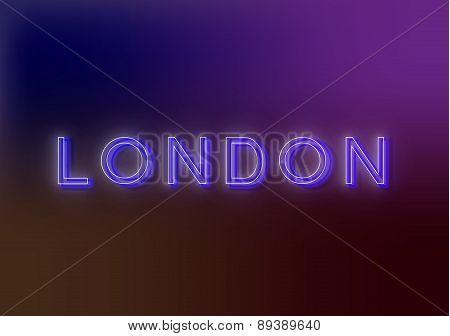 London - neon sign.