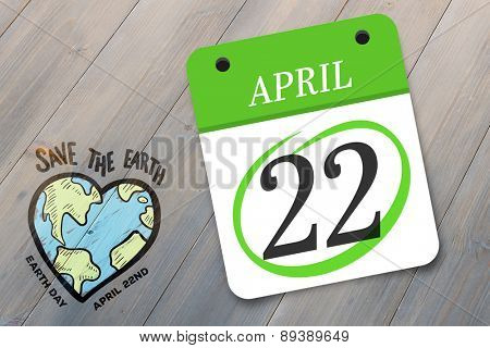 april 22nd against pale grey wooden planks