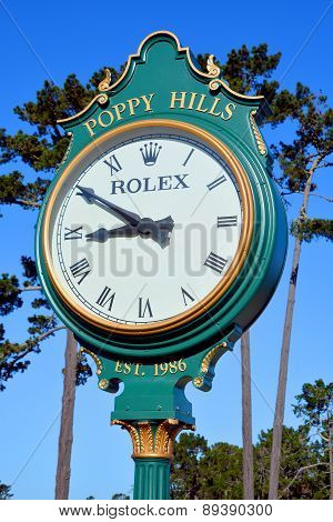 Poppy Hills Golf Course clock