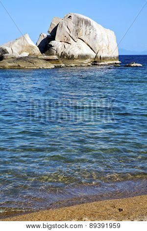 Asia  Kho Tao Coastline   Big  Rocks  Froth