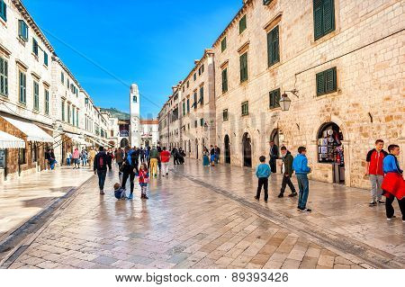Many tourists visit the Old Town of Dubrovnik