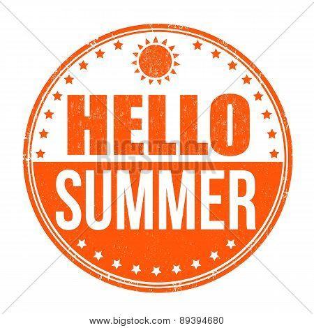 Hello Summer Stamp