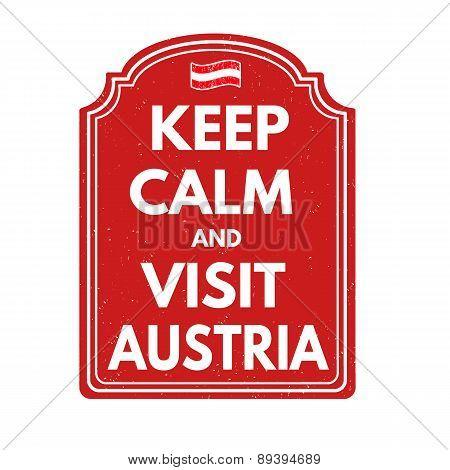 Keep Calm And Visit Austria Stamp