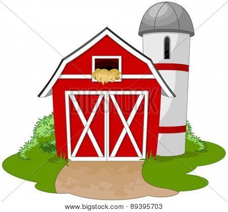 Illustration of a farm