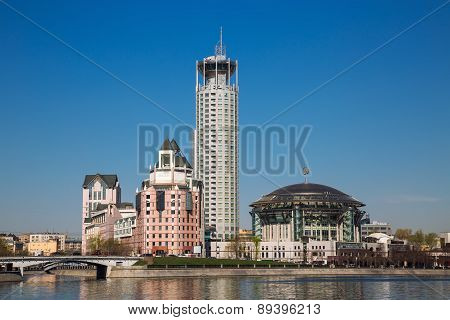 View On The Moscow House Of Music From Krasnoholmskaya Quay