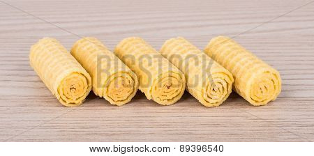 More Wafer Rolls On Table