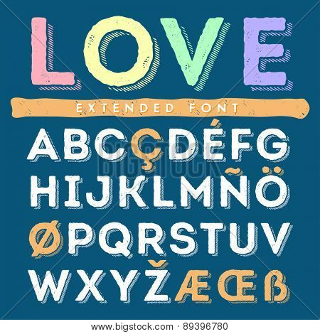 Funny hand drawn alphabet