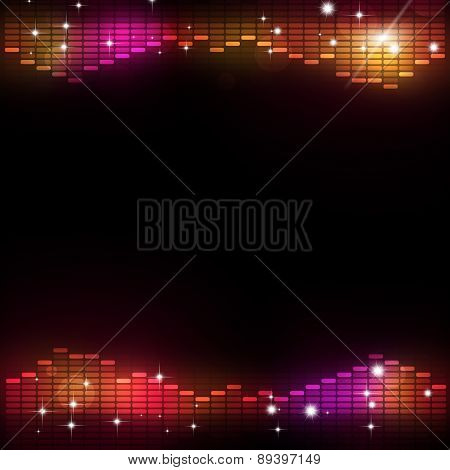 Disco Music Equalizer Party Background