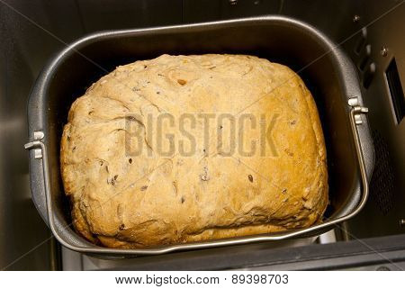 Homemade bread in the bread maker
