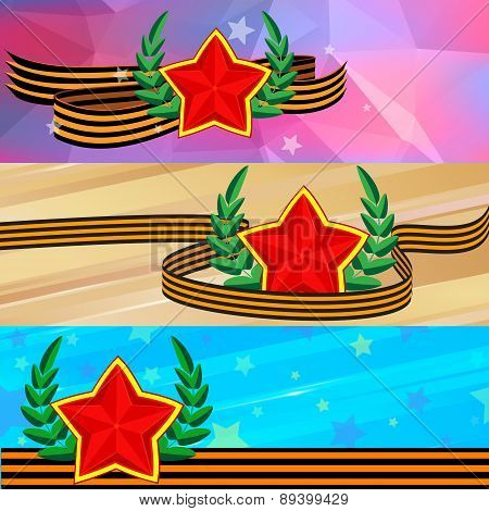 vector background on the theme of May 9