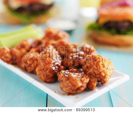 bbq boneless chicken on a plate