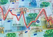 picture of descending  - Euro and descending graph - JPG