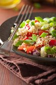 pic of chive  - healthy couscous salad with tomato cucumber onion chives - JPG