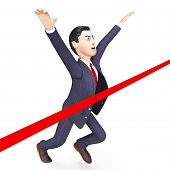 picture of win  - Businessman Wins Meaning Commerce Victorious And Winning - JPG