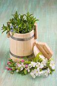 stock photo of tub  - wooden tub - JPG