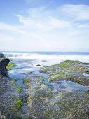 stock photo of tanah  - Coast near Tanah Lot - JPG