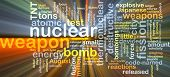 stock photo of nuclear bomb  - Background concept wordcloud illustration of nuclear weapon glowing light - JPG
