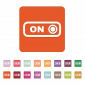 picture of toggle switch  - The on button icon - JPG