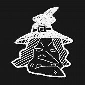 pic of witch  - Witch Hat Doodle - JPG