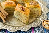 image of eastern culture  - Baklava traditional oriental sweets - JPG