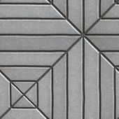 picture of paving  - Gray Paving Slabs Rectangles of Varying Lengths Laid in a Square - JPG