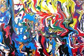 pic of paint spray  - Abstract acrylic modern painting fragment - JPG