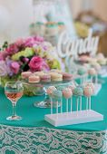 pic of candy  - Cute candy bar with various candies and cakes - JPG