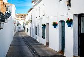 stock photo of southern  - Picturesque street of Mijas - JPG