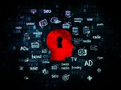 picture of keyholes  - Advertising concept - JPG