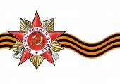 picture of patriot  - Order of the Patriotic war and George Ribbon in vector isolated over white - JPG
