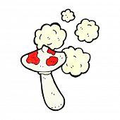 picture of toadstools  - cartoon toadstool mushroom - JPG