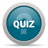 picture of quiz  - quiz blue glossy web icon - JPG