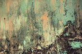pic of rusty-spotted  - Rusty metal textured background with a light cracked paint - JPG