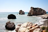 picture of goddess  - Rock of  Aphrodite  - JPG