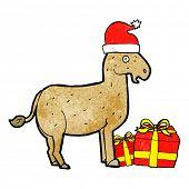 pic of donkey  - cartoon christmas donkey - JPG