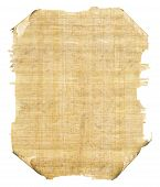 stock photo of scroll  - Ancient scrolls and parchments isolated on white - JPG