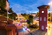 picture of malacca  - View of the famous colonial Dutch Square after sunset - JPG