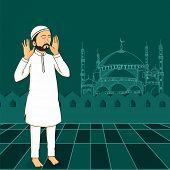 picture of muslim man  - A Muslim man praying  - JPG