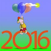 picture of monkeys  - Monkey with Balloons - JPG