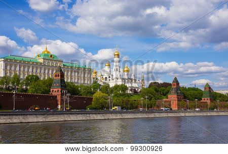 Cathedral of the Moscow Kremlin in summer