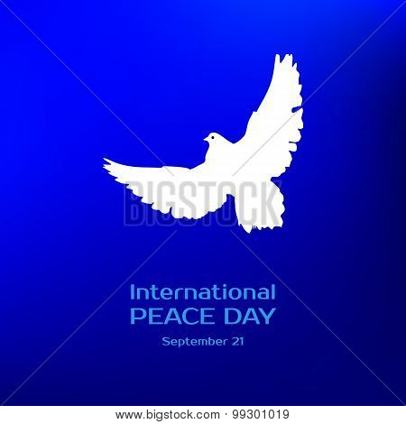 International peace day. Greeting card