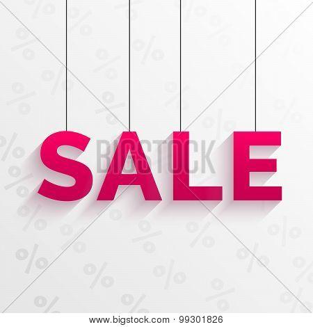 Sale tag illustration. Flat style design.