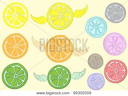 Clipart with a citrus
