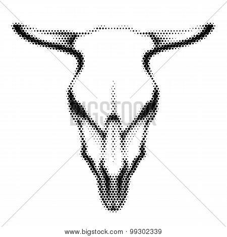 Halftoned Skull