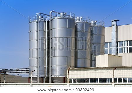 The chemical factory in a sunny day. Russia.