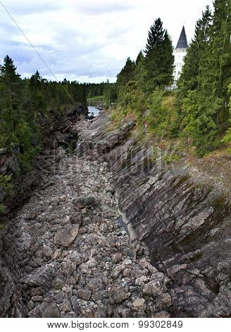 Finland. Imatra. Dry Riverbed of Vuoksa River