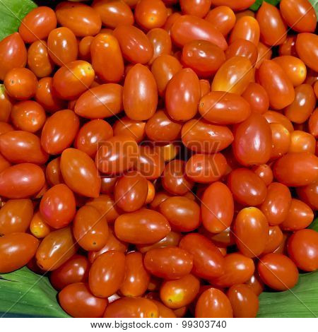 Group Of Fresh Small Tomatoes